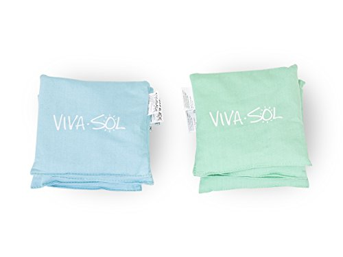 Viva Sol Premium Replacement Bean Bags Set Includes Eight Weather-Proof Canvas Bean Bags by Viva Sol
