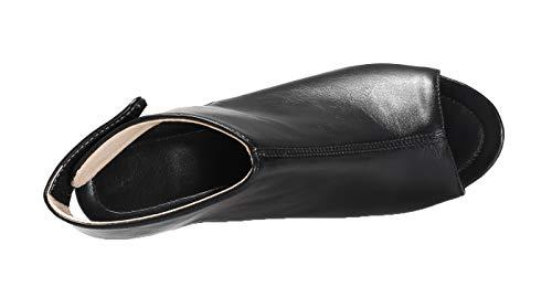 Couleur Unie Talon à Femme Sandales Correct AalarDom d'orteil TSFLG005433 Noir Ouverture wOYUxqRH