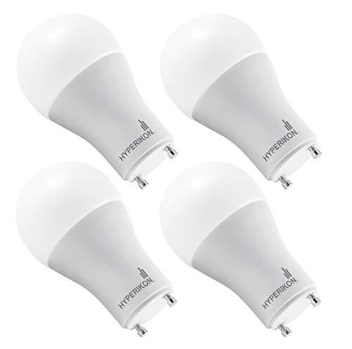 Hyperikon GU24 Light Bulb Dimmable, 60 Watt (12W), A19 LED Bulb, 2700k Warm (4 Pack)