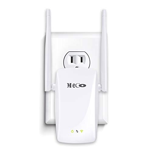 WiFi Range Extender, MECO 300Mbps WiFi Repeater Wireless Signal Booster Amplifier Supports Router Mode/Repeater/Access Point, Easily Setup and Seamless Roaming by MECO
