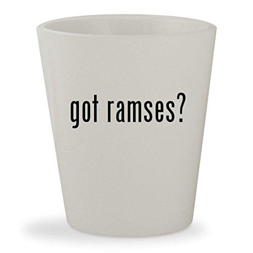 got ramses? - White Ceramic 1.5oz Shot (Nacho Libre Ramses Costume)