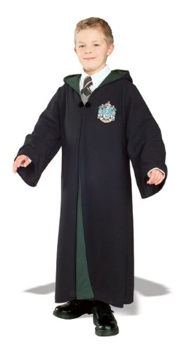 Deluxe Robe (Harry Potter Deluxe Slytherin Robe Child Costume, Medium)