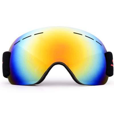 Whj Gafas de Snowboard Macho y Hembra sin Marco esquís Anti-ultravioletas Gafas de Sol Gafas Protectoras Profesionales Gafas de esquí por Whj
