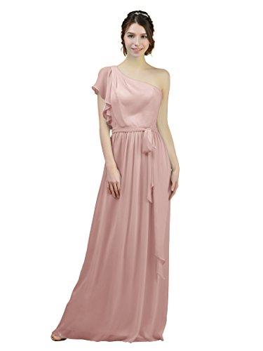 Silver Alicepub Pink Bridesmaid Long Asymmetric Gown Prom Party Chiffon Maxi Evening Dresses FqRBFOpZw