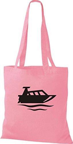 JUTA Tote Bag BARCA MOTORE, YACHT, barca, CAPITANO - rosa, 38 cm x 42 cm