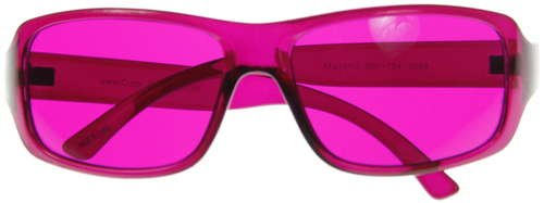 Kids Childrens Junior Color Therapy Glasses   Magenta