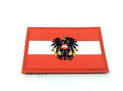Austria Escudo /Österreich Crest Marr/ón Airsoft Velcro PVC Parche