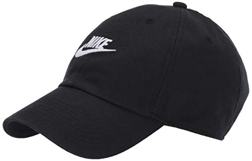 NIKE Sportswear Unisex H86 Futura Cap, Black/Black/White, One Size -