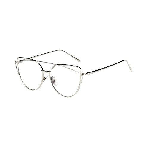 Lunettes De Soleil Covermason Mode Twin-poutres Classic femme cadre  métallique miroir lunettes de soleil a3bf0710a25a