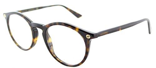 Eyeglasses Gucci GG 0121 O- 002 002 AVANA / - Round Glasses Gucci