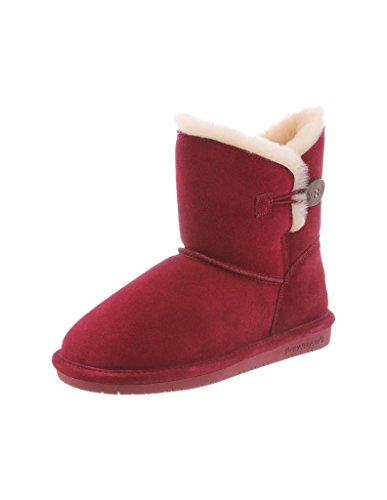 bearpaw-womens-rosie-7-boots-red-suede-sheepskin-fur-11-m