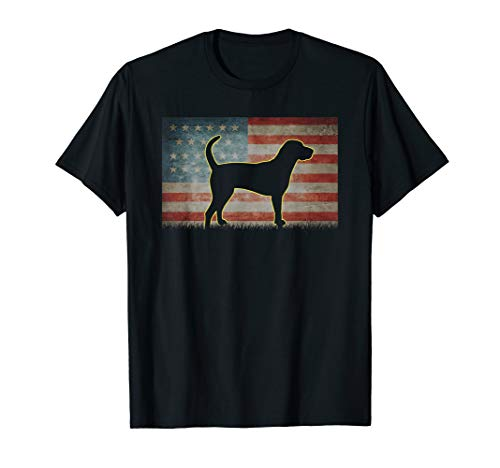English Coonhound Dog 4th of July American Flag Kids Boy men T-Shirt American English Coonhound Dog