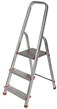 Aluminio Escalera 3 hasta 8 Escalones Escalera de Casa Escalera de Pintor Multiuso Escalera Plegable Tüv - 3 Niveles: Amazon.es: Bricolaje y herramientas