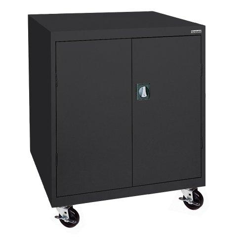 Sandusky Lee TA2R462442-09 Steel Transport Mobile Storage Cabinet, 2 Adjustable Shelves, 48