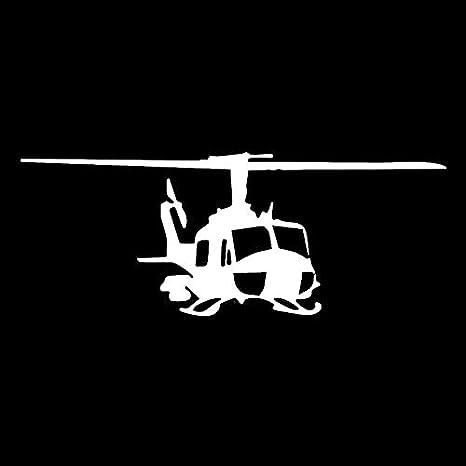 Cvxgdsfg Etiqueta engomada del coche de helic/óptero de estilo de dise/ño de 18,2 cm x 7,2 cm Color : Black