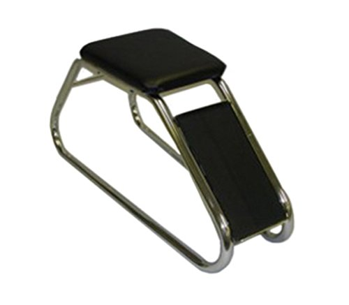 Classic Chrome Shoe Fitting Stool with Padded Seat