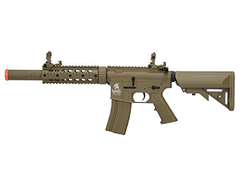 Lancer Tactical LT-15 Gen 2 M4 Polymer AEG Airsoft Rifle (Tan with Low FPS) by Lancer Tactical