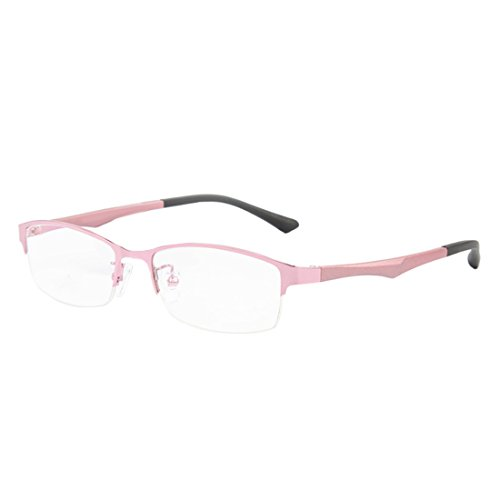 lentille Rose demi résine mode myopes lunettes cadre trame Aiweijia rétro Femme métal Mâle lunettes en en 7ZpABx