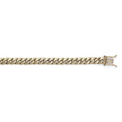 "Or jaune 14 carats - 7 mm-Link Bracelet chaîne JewelryWeb - 8 """