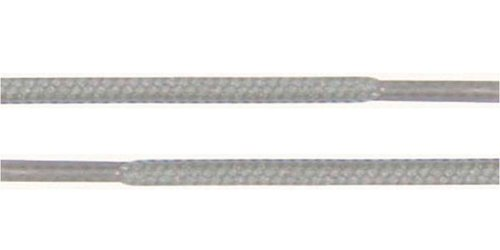 """Round Shoelaces 3/16"""" Thick Solid Colors for All Shoe Types Several Lengths (Light Gray-36)"""