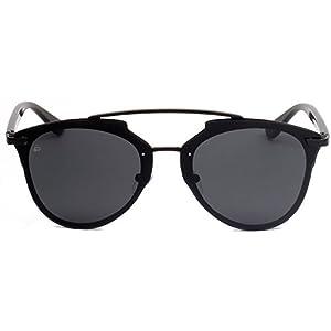 "PRIVÉ REVAUX ICON Collection ""The Benz"" Handcrafted Designer Geometric Sunglasses For Men & Women (Black)"