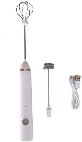 ミルク泡立て器、コーヒー電気泡立て器ミキサー、カプチーノ用ハイパワーコーヒー泡立て器泡メーカーを充電ハンドヘルドUSB
