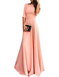 Womens Fashion Sleeve Dress Long Skirt