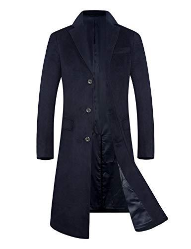 メンズ コート 80% ウール ロング アウター 無地 暖かい 秋冬春 チェスターコート ジャケット 紳士服 ビジネス 通勤コート