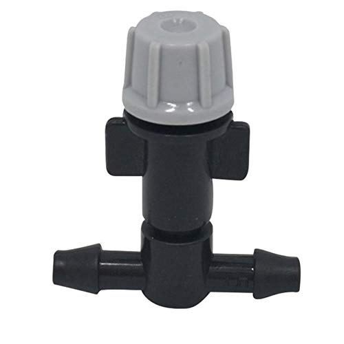 Garden Sprinklers, 5Pcs/Lot Black Garden Sprinklers Heads Nozzle & Tee Joints for Misting Watering Irrigation Pump Tee Joints Garden Sprinklers (Black)