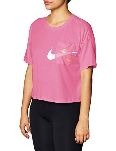 Nike Icon Clash Womens Short Sleeve Training Top (M, Purple/White) 1
