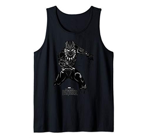 Marvel Black Panther Paint Drip Portrait Logo Tank Top ()
