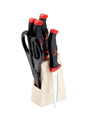Voetex Zone Wood Kitchen Knife Set With Wooden Block And Scissors Knife Set For Kitchen With Stand Knife Set For Kitchen Use Knife Holder For Kitchen With Knife 5 Pieces Black Thefirstreviews Com