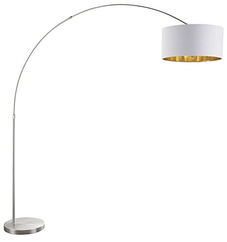 Lumisource Black Floor Lamp (Floor Lamp in Black and White Shade Finish)