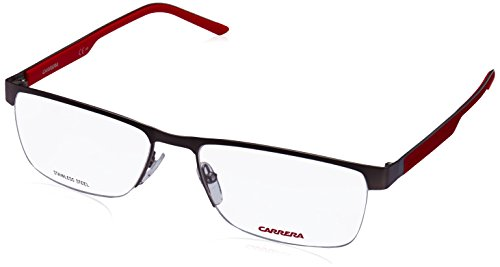 Carrera 8817 Eyeglass Frames CA8817-0PMZ-5617 - Matte Rut Red Frame Lens Diameter 56mm Distance