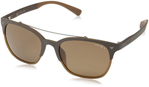 5 Brown Police Matt GAME Full SPL161 Sonnenbrille Semi TnfHwUq