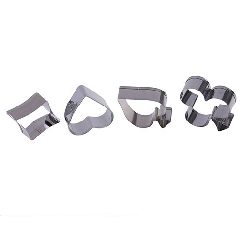 4Pcs/Set Stainless Steel Poker Pastry Cake Biscuit Cookie Cutter Molds Tools