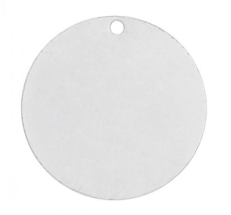 30PCs Silver Round Charms, Round Tag, Blank Discs, Stamping Blanks, 20 mm (6/8