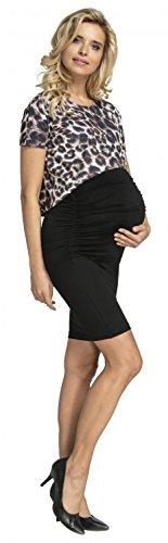 Happy Mama. Mama Heureux. Womens Bodycon Maternity Mini Dress With Top Nursing Access. Womens Mini Maternité Robe Moulante Avec Haut L'accès Des Soins Infirmiers. 262p Brown Leopard Léopard Brun 262p