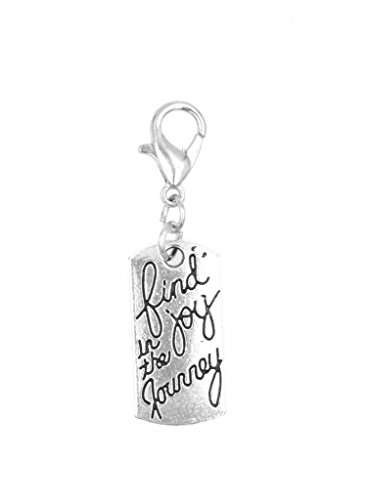 (It's All About...You! Find Joy in The Journey Clip on Charm Perfect for Necklaces and Bracelets 98Ab)