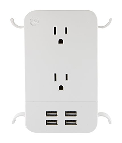 Home Audio Accessories GE UltraPro 2-Outlet + 4 USB Surge Protector with  Cord Management, White, 4 8A/24W, 560 Joules, 31708 | PrestoMall - Audio