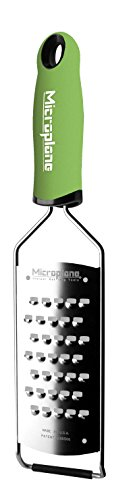 Microplane Gourmet Series Extra Coarse Grater, Stainless Steel, Green, 31.5 x 7.5 x 3 cm ()
