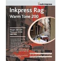 (Inkpress Rag Warm Tone 200 Double Sided, Cream White Matte Inkjet Paper, 15 mil, 200 gsm, 11x14