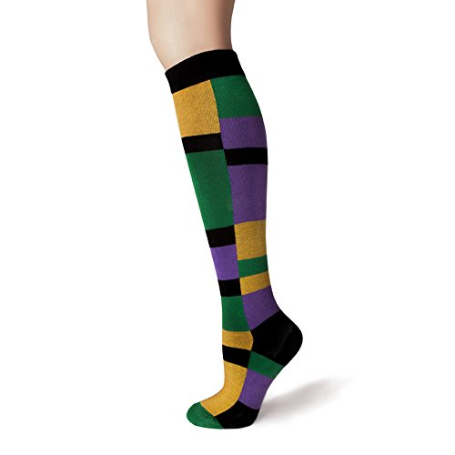SHEEC - KneeSox Mardi Gras - Multi-Block (Mardi Gras Fashion)