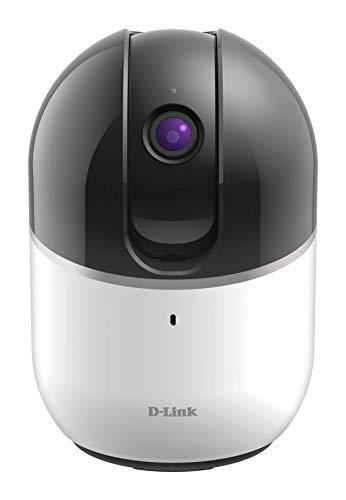 D-Link DCS-8515LH - Cámara WiFi HD con motor, con seguimiento de personas u objetos en movimiento, rotación horizontal 340°, vertical 105°, 720p, infrarrojos, compatible Alexa, Google Home e IFTTT