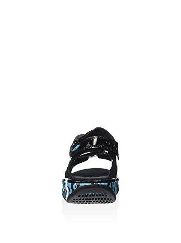 Mbt Damer Kisumu 3 S Blåbær Leopard Romerske Sandaler, Mørke Lilla Forskellige Farver (sort / Blå Bær)