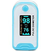Niscomed Professional Series Finger Tip Pulse Oximeter with Audio Visual Alarm Pulse Oximeter (Blue) now with metal box
