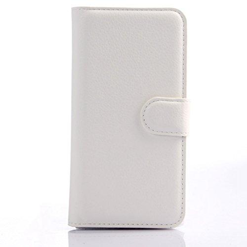 Manyip Funda Alcatel One Touch Idol 3 (5.5),Caja del teléfono del cuero,Protector de Pantalla de Slim Case Estilo Billetera con Ranuras para Tarjetas, Soporte Plegable, Cierre Magnético(JFC3-6) D