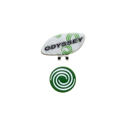 Odyssey Graphic clip ball Marker 14 JM 5936223 white/green by Callaway