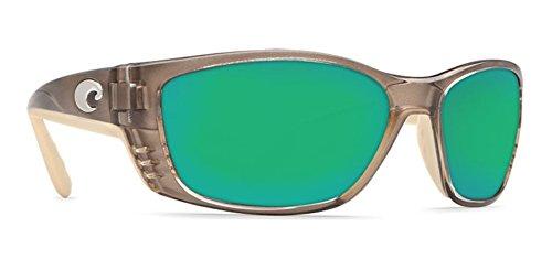 Costa Del Mar Sunglasses - Fisch- Glass / Frame: Crystal Bronze Lens: Polarized Green Mirror Wave 400 Glass ()