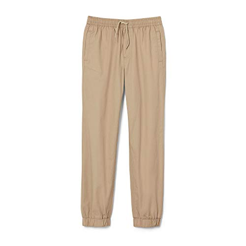 French Toast Boys' Little Pull-on Jogger Pant, Khaki, 5